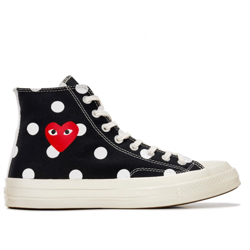 Кеды Converse Comme Des Garcons Polka Dot Black High