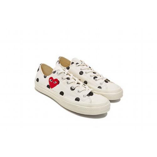 Кеды Converse Comme Des Garcons Polka Dot White Low