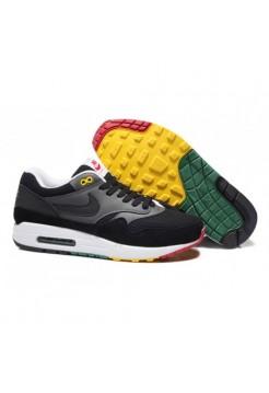 Кроссовки Nike Air Max 87 Черные с цветной подошвой