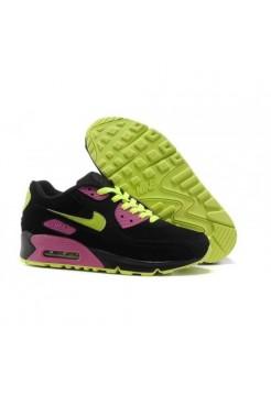 Кроссовки Nike Air Max 90 Черно-салатовые