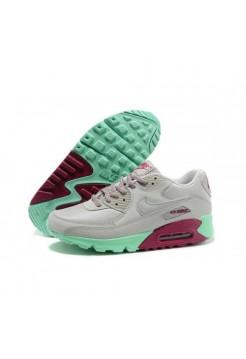 Кроссовки Nike Air Max 90 Серо-зеленые с фиолетовым