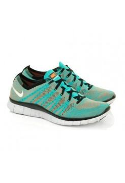 Кроссовки Nike Free Run Flyknit Серо-голубые