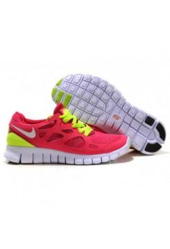 Кроссовки Nike Free Run Розово-салатовые