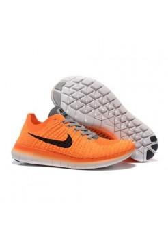 Кроссовки Nike Free Run Flyknit Оранжевые