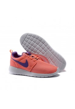 Кроссовки Nike Roshe Run Розовые с фиолетовым