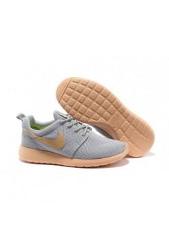 Кроссовки Nike Roshe Run Серо-оранжевые