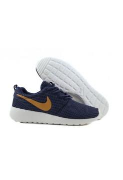 Кроссовки Nike Roshe Run Синие с желтым
