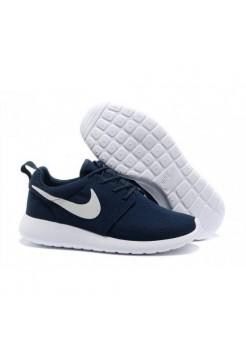 Кроссовки Nike Roshe Run Темно-синие с белым