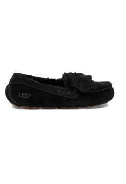 UGG Ansley Fur Bow Black