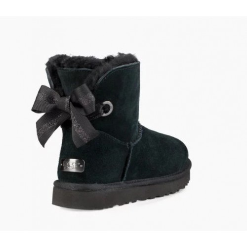 UGG Customizable Bailey Bow Mini Seashell Black