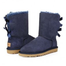 UGG Bailey Bow Blue Navy