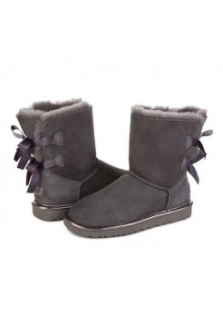 UGG Bailey Bow Metallic Grey