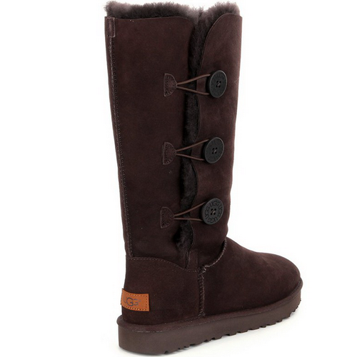 UGG Bailey Button Triplet Chocolate II
