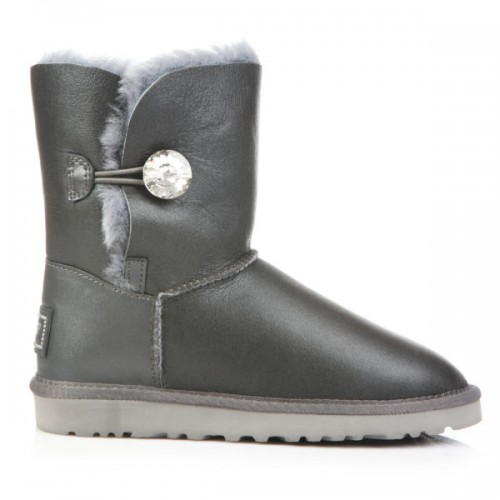 UGG Bailey Button Leather Bling Grey