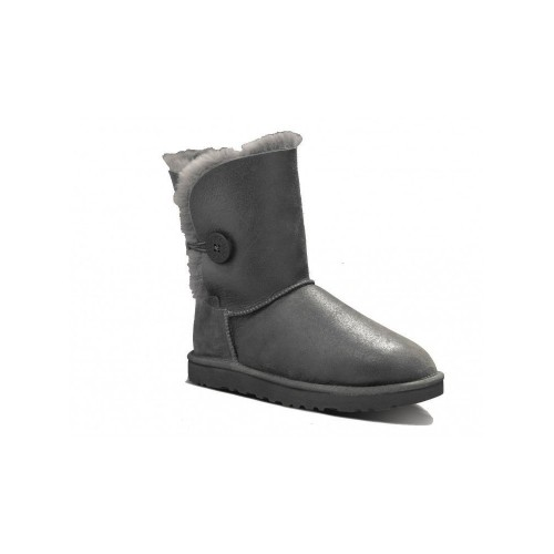 UGG Bailey Button Leather Metalic Grey