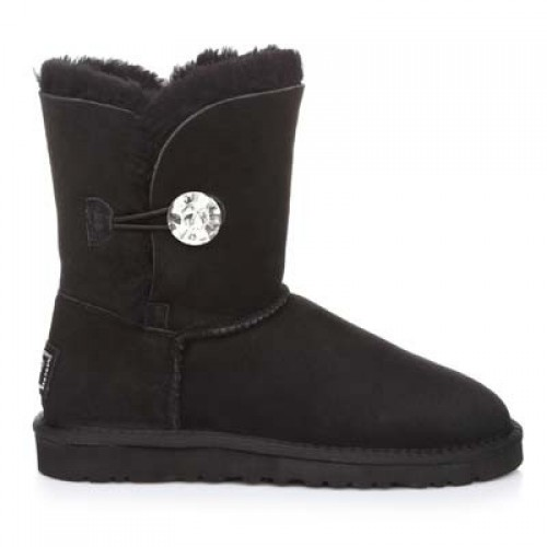 UGG Bailey Button Bling Black