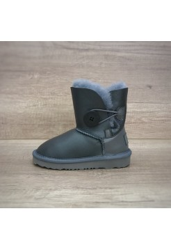 UGG Baby Bailey Button Leather grey