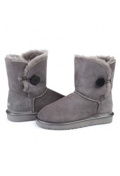 UGG Bailey Button Grey Окантовка