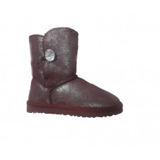 UGG Bailey Button Bling Bordo Metallic