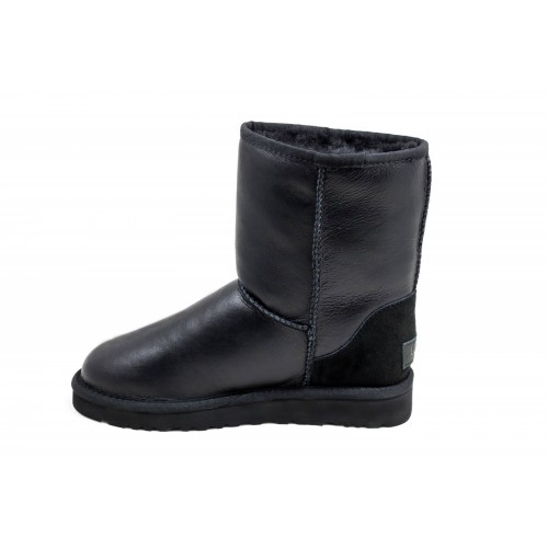 UGG Classic Short Leather Black II