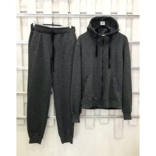Мужской темно-серый прогулочный костюм деми Colors of California Classic Zip Hoodie, худи на молнии