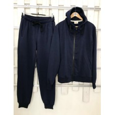 Мужской темно-синий прогулочный костюм деми Colors of California Classic Zip Hoodie, худи на молнии