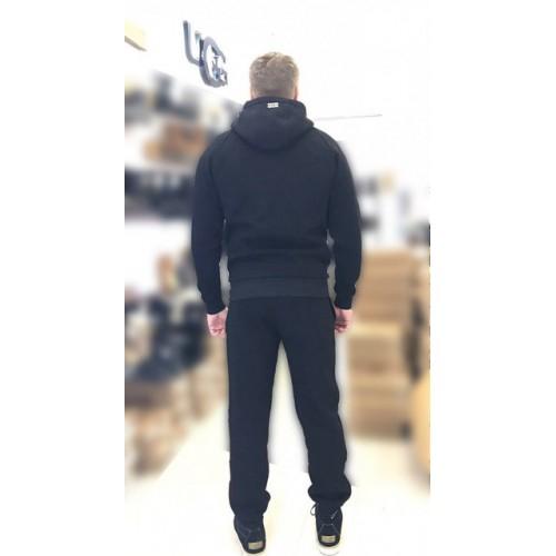 Мужской теплый костюм UGG Zip Merino Black Черный на молнии, высокое горло