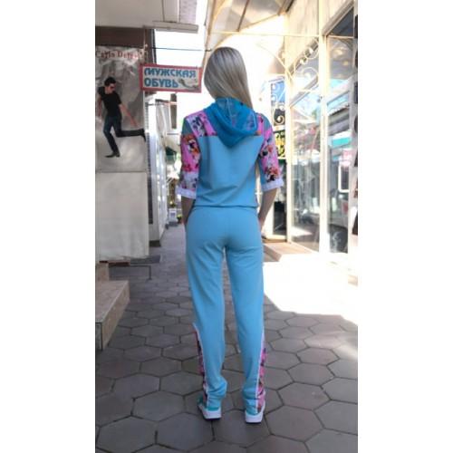 Женский летний прогулочный костюм Colors of California бирюзовый