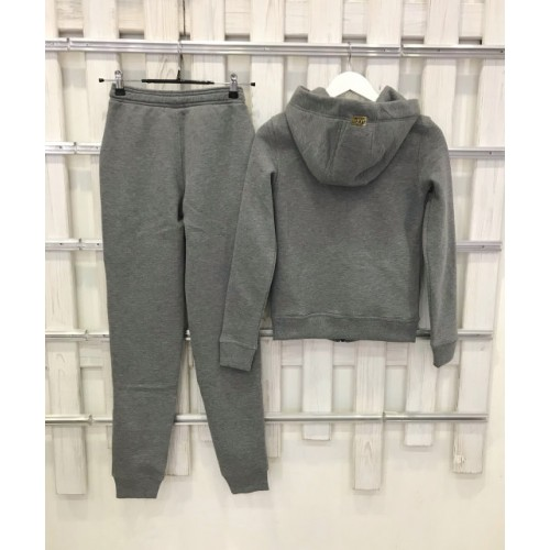 Теплый костюм UGG Australia Zip Merino Grey темно-серый меланж на молнии