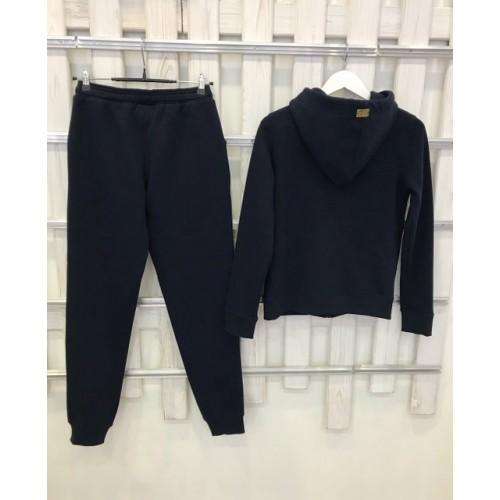 Теплый костюм UGG Australia Zip Merino Navy темно-синий на молнии, высокое горло