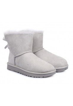 UGG Mini Bailey Bow Light Grey
