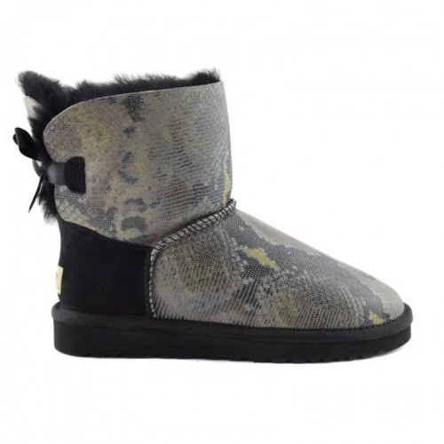 UGG Mini Bailey Bow Змея Черные