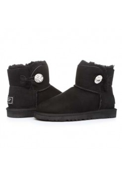 UGG Mini Bailey Button Bling Черные
