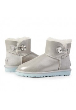 UGG Bailey Button Mini Bling Серебро