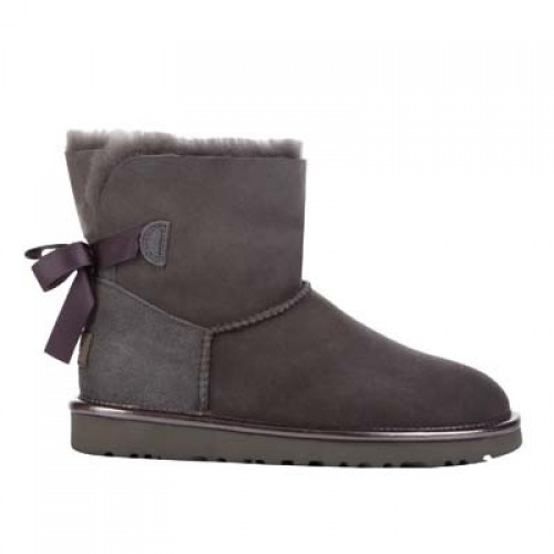UGG Mini Bailey Bow II Metallic Grey