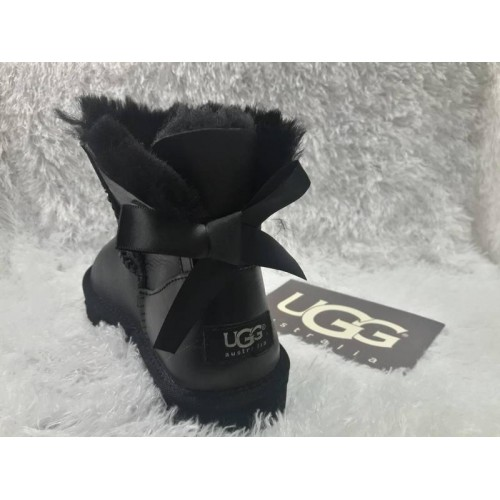 UGG Mini Bailey Bow All Leather Black