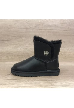 UGG Bailey Button Mini Turnlock Leather Черные