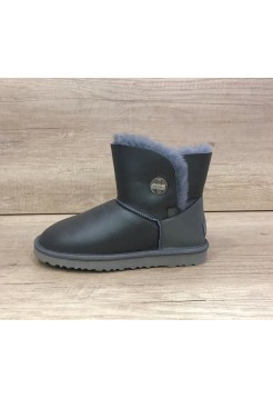 UGG Bailey Button Mini Turnlock Leather Серые