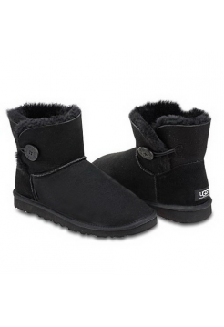 UGG Mini Bailey Button Black II