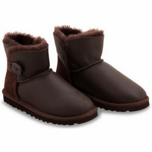 UGG Bailey Button Mini Leather Chocolate