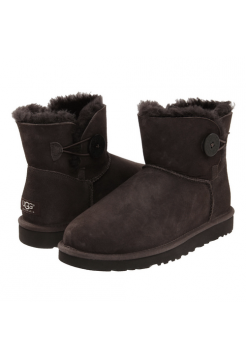 UGG Mini Bailey Button Chocolate II