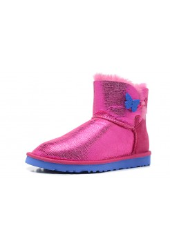 UGG Mini Bailey Button Butterfly Pink
