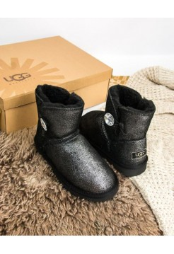 UGG Mini Bailey Button Bling Серебро