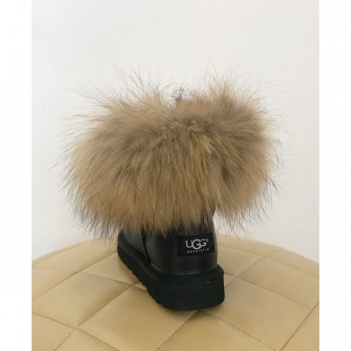 UGG Classic Mini Fur Fox Black