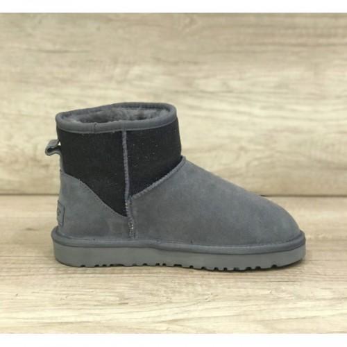 UGG Classic Mini Sparkle Rubber Boot Gray