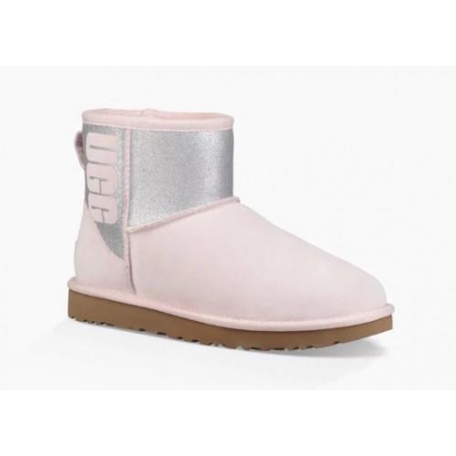UGG Classic Mini Sparkle Boot Seashell Pink
