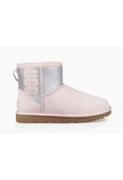 UGG Classic Mini Sparkle Rubber Boot Seashell Pink