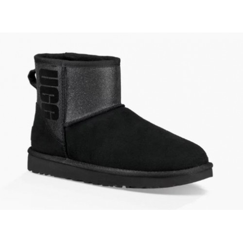 UGG Classic Mini Sparkle Rubber Boot Black