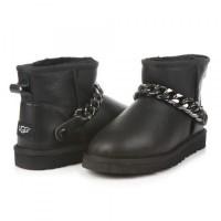 UGG Classic Mini Chain Цепочка Leather Black