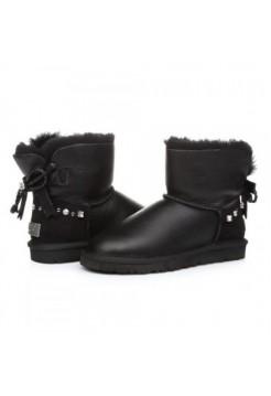 UGG Mini Косичка Leather Black